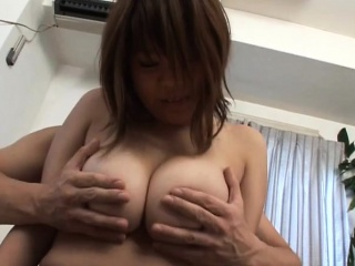 Subtitled BBW tan Japanese inferior big breasts fondle