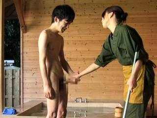 Captivating asian older gets her worthwhile tits played with