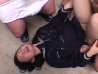 Young Japanese Schoolgirl hardcore bukkake