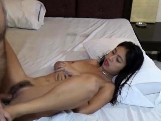 Horny Asian Teen sucks tourist's Flannel