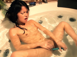 Watch Me Make My Asian Pussy Squirt In The Ba