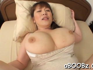 Hot mature idol Nami Horikawa with big tits enjoys rear lady-love