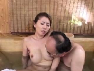 Oriental skank likes a hard knob